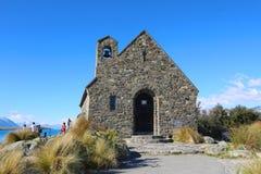 Kyrkan av den bra herden i sjön Tekapo, Nya Zeeland royaltyfria bilder
