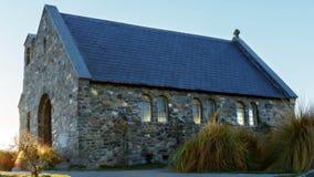 Kyrkan av den bra herden At Lake Tekapo Nya Zeeland royaltyfri foto