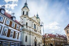 Kyrkan av den heliga anden i Warszawa, Polen Royaltyfri Fotografi