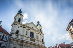 Kyrkan av den heliga anden i Warszawa, Polen Arkivbilder