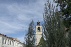 Kyrkan av den heliga Treenighet i Bnasko, Bulgarien royaltyfria bilder