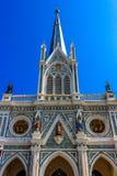 Kyrkan av den jungfruliga Maryen, under-område för smällNok Kwaek, pang Khon utslagsplatsområde, Samut Songkhram Provi royaltyfria foton