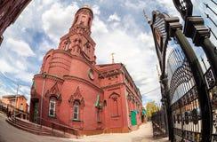 kyrkan av den Kazan symbolen av fostra av guden Royaltyfri Fotografi