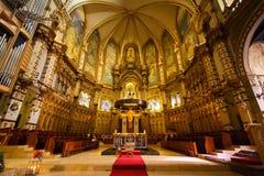 Kyrkan av den Santa Maria de Montserrat kloster Fotografering för Bildbyråer