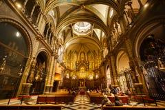 Kyrkan av den Santa Maria de Montserrat kloster Arkivbild