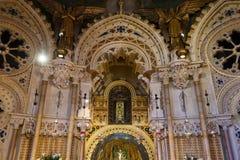 Kyrkan av den Santa Maria de Montserrat kloster Royaltyfri Bild