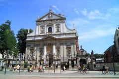 Kyrkan av den St Peter och St Paul staden Krakow i Polen Fotografering för Bildbyråer