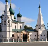 Kyrkan av Elijah profeten i Yaroslavl royaltyfri foto