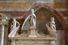 Kyrkan av Eremitanien är en Augustinian kyrka av det 13th århundradet Padua Arkivbild