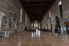 Kyrkan av Eremitanien är en Augustinian kyrka av det 13th århundradet Padua Royaltyfri Bild