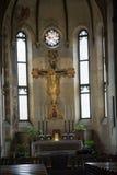 Kyrkan av Eremitanien är en Augustinian kyrka av det 13th århundradet Padua, Royaltyfria Bilder