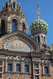 Kyrkan av frälsaren på spillt blod, St Petersburg Royaltyfria Bilder