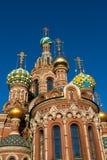 Kyrkan av frälsaren på spillt blod, St Petersburg, Ryssland Arkivbild