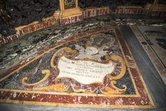 Kyrkan av Gesu i Corso Vittorio Emanuel 2 i Rome Italien arkivfoton