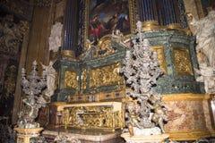 Kyrkan av Gesu i Corso Vittorio Emanuel 2 i Rome Italien royaltyfria foton