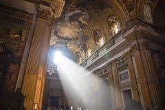 Kyrkan av Gesu i Corso Vittorio Emanuel 2 i Rome Italien fotografering för bildbyråer