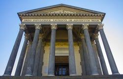 Kyrkan av Gran Madre di Dio, Turin /Italy Royaltyfri Fotografi