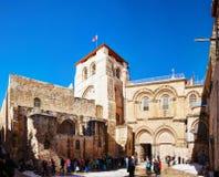 Kyrkan av helgedomen begraver i Jerusalem royaltyfria foton