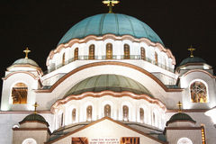 Kyrkan av helgonet Sava i Belgrade Royaltyfri Bild