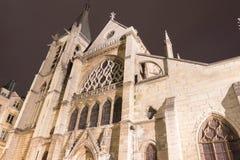 Kyrkan av helgonet-Severin är en Roman Catholic kyrka i den latinska fjärdedelen av Paris, Frankrike arkivfoto