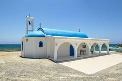 Kyrkan av helgonet Thecla på medelhavet i Ayia Napa Arkivbild