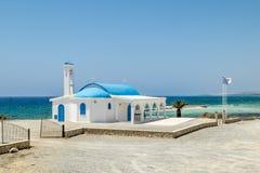 Kyrkan av helgonet Thecla på medelhavet i Ayia Napa Arkivfoto