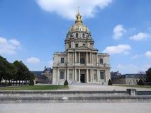 Kyrkan av huset av inaktiverade - det Les Invalides komplexet av museer och monument i Paris milit?r historia av Frankrike Gravva fotografering för bildbyråer