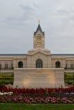 Kyrkan av Jesus Christ av den nutida helgontemplet i fort C Arkivfoton