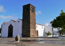 Kyrkan av la Oliva på Fuerteventura Royaltyfria Bilder
