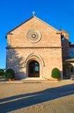 Kyrkan av Madonna delle steg. Santa Maria degliangelöss. Umbria. Royaltyfria Bilder