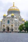 Kyrkan av marin- härlighet Kronstadt Fotografering för Bildbyråer