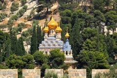 Kyrkan av Mary Magdalene i Jerusalem, Israel. royaltyfri bild