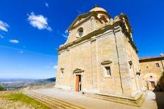 Kyrkan av nya St Mary nära Cortona, i Tuscany, Italien royaltyfri bild