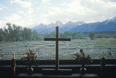 Kyrkan av omformning i Jackson Wyoming Royaltyfri Fotografi