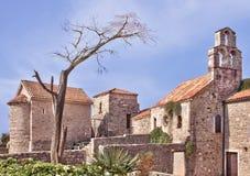 Kyrkan av Santa Maria i Punta, Budva, Montenegro Etablerat vid benedictinesna i ANNONS 840 Royaltyfri Bild