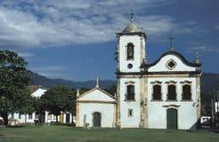 Kyrkan av Santa Rita i Paraty, tillstånd av Rio de Janeiro, behå Royaltyfri Bild