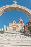 Kyrkan av Santo Cristo del Ojo de Agua i Saltillo, Mexico Fotografering för Bildbyråer