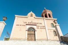 Kyrkan av Santo Cristo del Ojo de Agua i Saltillo, Mexico Arkivfoton