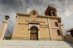 Kyrkan av Santo Cristo del Ojo de Agua i Saltillo, Mexico Arkivfoto