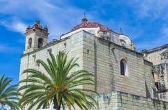 Kyrkan av Santo Domingo de Guzman i Oaxaca Mexico Royaltyfri Bild
