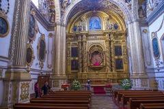 Kyrkan av Santo Domingo de Guzman i Oaxaca Mexico Arkivbild
