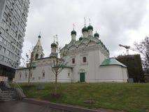 Kyrkan av Simeon Stolpnik i den Povarskaya gatan Arkivbilder