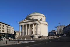 Kyrkan av St Alexander i fyrkanten av de tre korsen arkivfoto