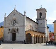 Kyrkan av St Benedict, Norcia Arkivfoton