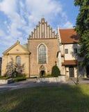 Kyrkan av St Francis av Assisi i Krakow arkivbilder