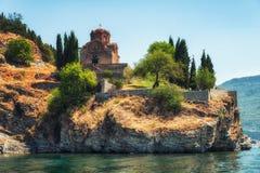 Kyrkan av St John av Kaneo Byzantine royaltyfri foto