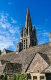 Kyrkan av St Mary, Witney, Oxfordshire, England, UK Arkivfoton