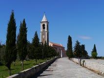 Kyrkan av St Michael i Murter Arkivfoton