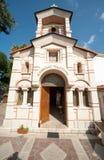 Kyrkan av St Nicholas i hamnstadstaden av Sozopol i Bulgarien Arkivfoton