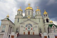 Kyrkan av St Nicholas Wonderworkeren (staden av Nizhny Arkivbilder
